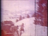 Stock Video Footage of Vintage Shoveling Snow 01
