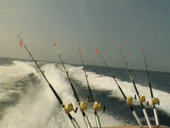 Back Of A Fishing Boat 01 Stock Footage