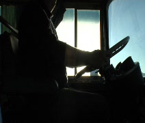 Driving a Bus 04 - stock footage