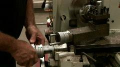 Metal lathe operator Stock Footage
