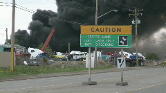 Fire at auto wrecker, heavy smoke, #6 Stock Footage