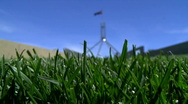 Stock Video Footage of Green Grass Before Parliament House Canberra Australia
