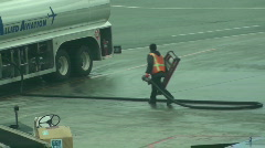 Airport ,refueling,plane Stock Footage