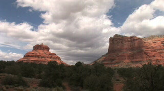 Sedona timelapse with clouds-bell rock and courthouse rock Stock Footage