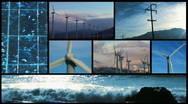 Alternative power and renewable energy montage - HD  Stock Footage