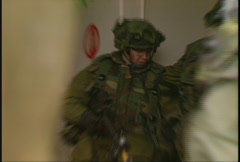 Military, soldiers tactical assault of building, urban combat, #7 Stock Footage