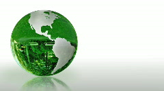 Earth Globe made of glass, environmental conservation, looping - stock footage