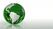 Stock Video Footage of Earth Globe made of glass, environmental conservation, looping