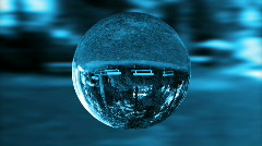 Glass orb or dew,environmental conservation, looping Stock Footage