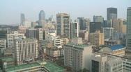 Gangnam pagoda in Seoul Korea Stock Footage