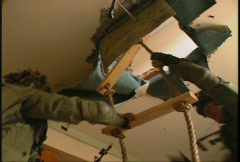 Military, soldiers tactical assault of building, urban combat, #4 Stock Footage