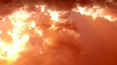 Stormy Sunset Clouds Time Lapse Stock Footage