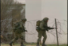 Military, soldiers tactical assault of building, urban combat, #14 Stock Footage