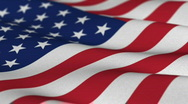 Stock Video Footage of USA Flag - shallow depth of field - seamless