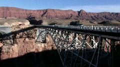Navajo Bridge vehicles crossing P HD Stock Footage