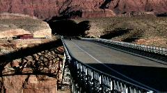 Navajo Bridge car crossing towards P HD Stock Footage
