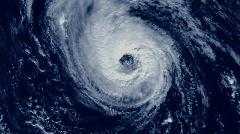 Stock Video Footage of Hurricane Satellite View 01