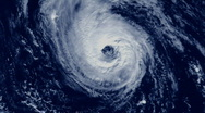 Hurricane Satellite View 01 Stock Footage