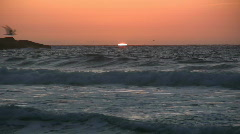 Sunset in to sea Stock Footage