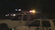 Police SUV's blocking traffic Stock Footage