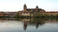 Salamanca city at night Stock Footage