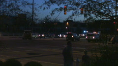 Traffic accident scene - overview Stock Footage