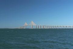 NTSC: Sunshine Skyway Bridge Stock Footage
