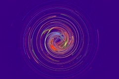 Rotating circle on blue Stock Footage