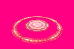 Rotating pearl ring on red Stock Footage