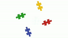 Puzzle Pieces falling into place Stock Footage