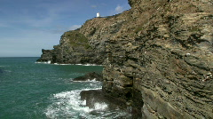 Portreath cliffs. Stock Footage