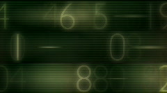 number data - stock footage