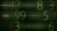Stock Video Footage of number data