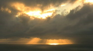 Stock Video Footage of Sun behind clouds