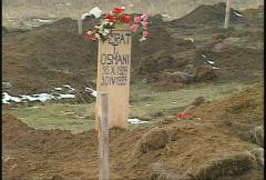 Kosovo, former Yugoslavia. mass grave, #2 Stock Footage