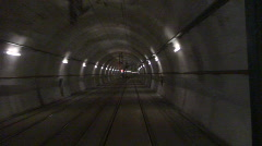 Motion fast in tunnel Stock Footage