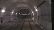 Stock Video Footage of motion fast in tunnel
