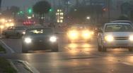 Stock Video Footage of Foggy Nighttime Street