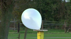 HD1080i Air balloon. Shoot with gun. Sound Stock Footage