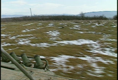 Stock Video Footage of Kosovo, former Yugoslavia. Leopard tank on patrol, #19
