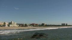 Sunny beach scenic of Santa Monica (High Definition) - stock footage