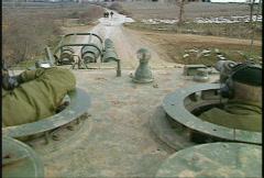 Stock Video Footage of Kosovo, former Yugoslavia. Leopard tank on patrol, #7