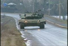 Kosovo, former Yugoslavia. Leopard tank on patrol, #11 - stock footage