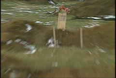 Kosovo, former Yugoslavia. mass grave Stock Footage