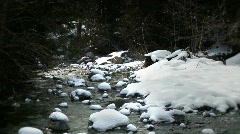 Stream and Snow  Stock Footage