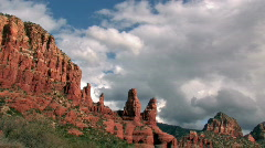 Sedona Red rocks clouds TL P HD Stock Footage