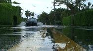 Stock Video Footage of Flooded Road
