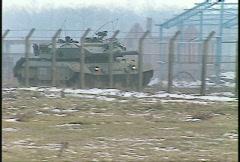 Stock Video Footage of Kosovo, former Yugoslavia. Leopard tank on patrol, #32