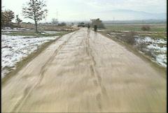 Kosovo, former Yugoslavia. Leopard tank on patrol, #17 - stock footage