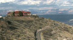Jerome Arizona mountain road cars P Stock Footage